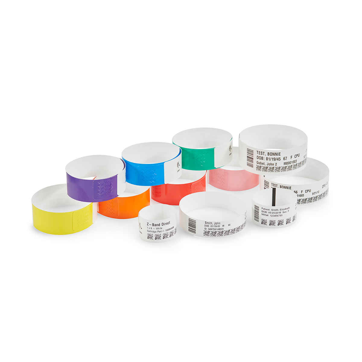 Wristband printing supplies for healthcare, hospitality and leisure