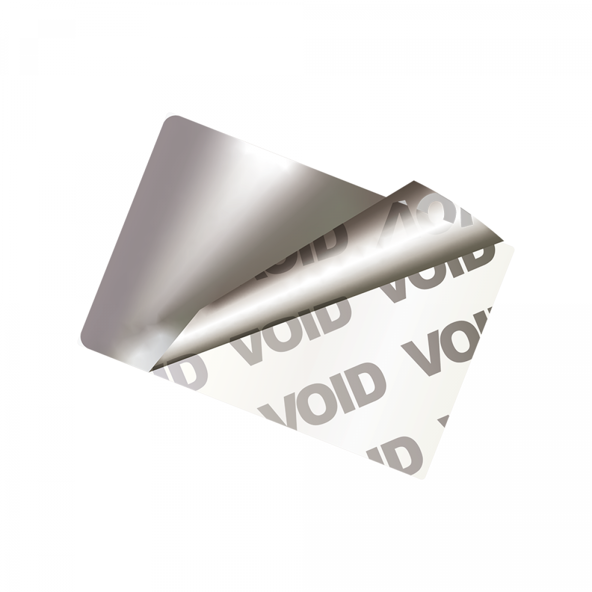 Security label with tamper evident void message