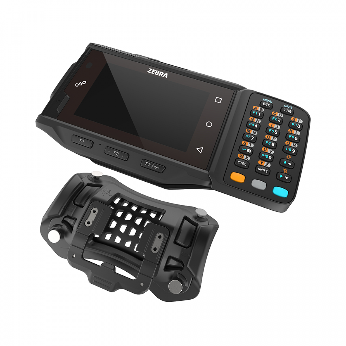 Zebra WT6000 wearable device with arm mount