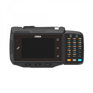 Zebra WT6000 wearable device with touch screen and keypad